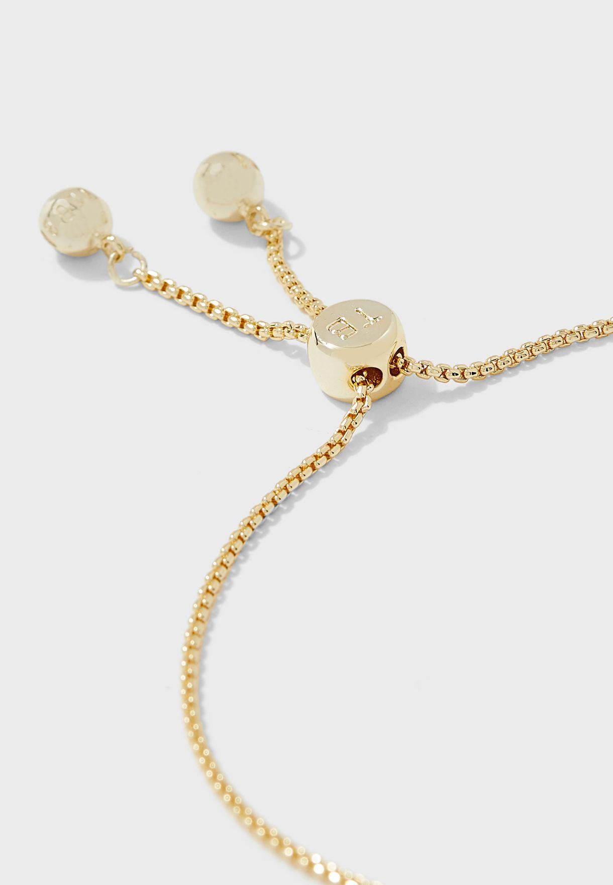 Sabsal Crystal Sparkle Bow Drawstring Bracelet