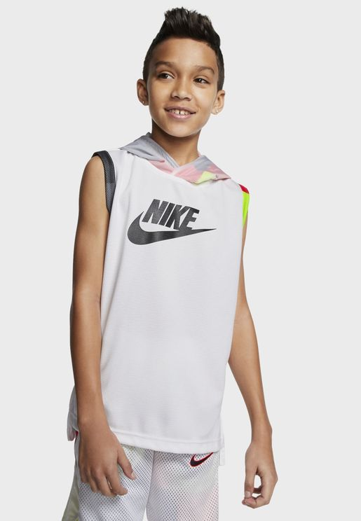 Youth Hooded Mesh Tank
