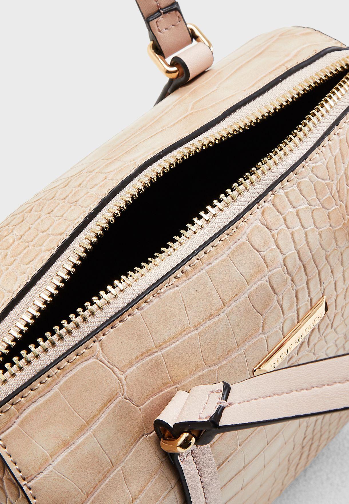 Lithium Croc Belted Satchel