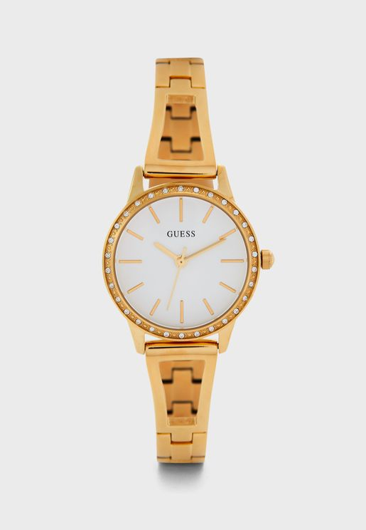 Crystal Dial Analog Watch