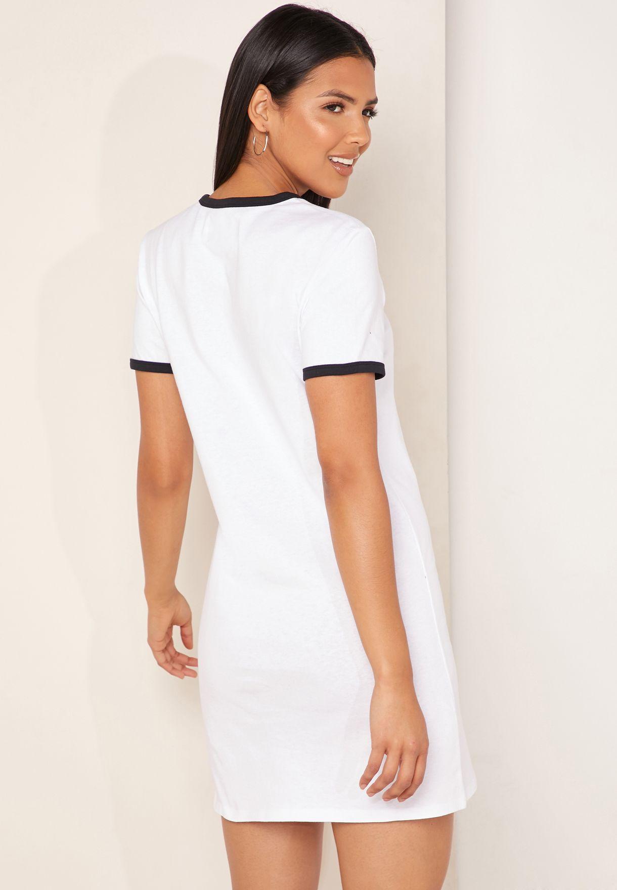Monogram Contrast Trim Logo T-Shirt Dress