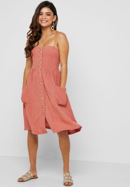 e28eaba7e Button Down Striped Dress
