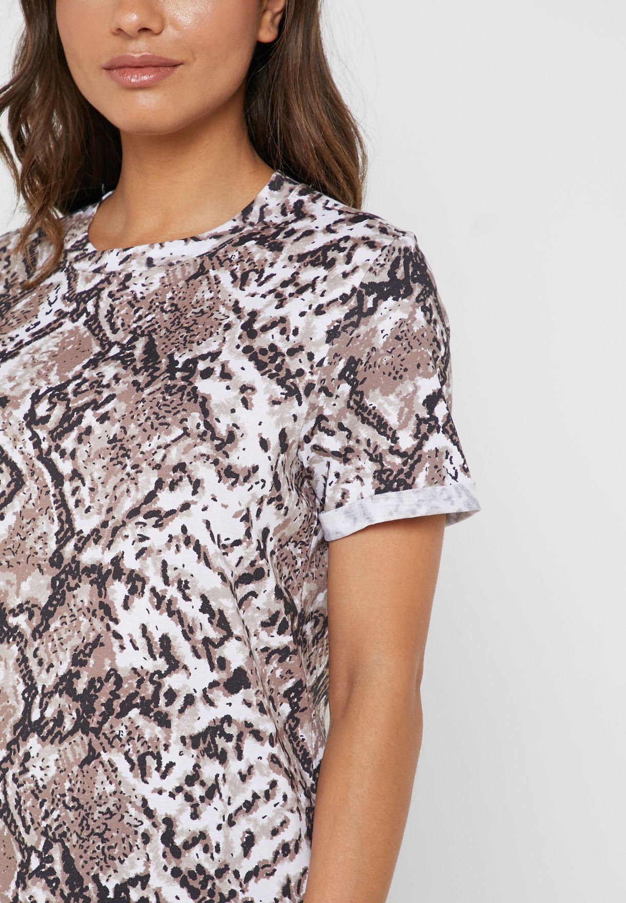 Snake Print Short Sleeve T-Shirt