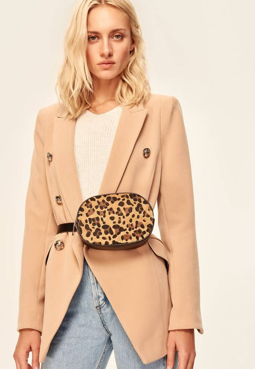 Leopard Patterned Waist Crossbody