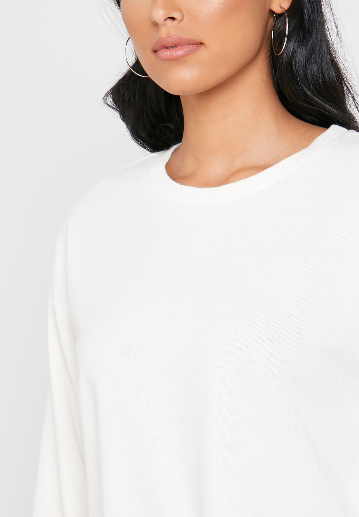 Buy Forever 21 White Cuffed T-shirt For Women, Uae 20008at25qwp