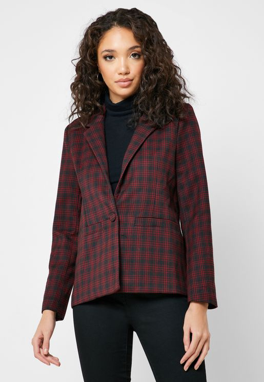 Checked Pocket Blazer
