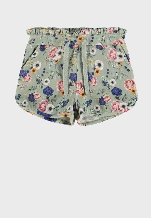Kids Floral Shorts