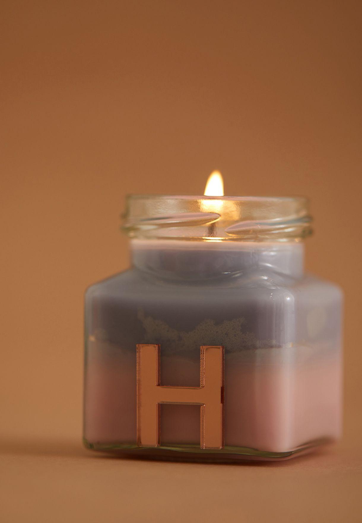 Vanilla Ylang Ylang Initial H Candle