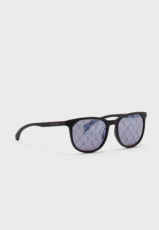 CKJ823S Oval Shape Sunglasses