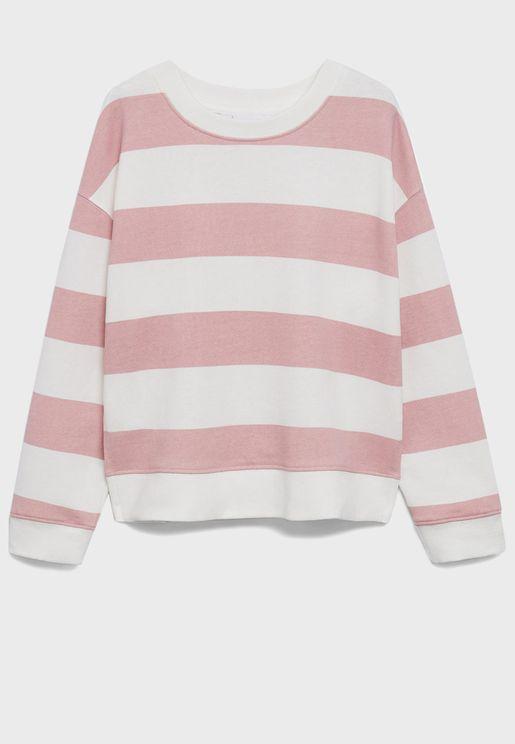 Kids Wide Stripe Sweatshirt