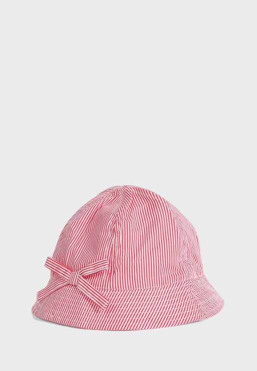 Kids Striped Bucket Hat