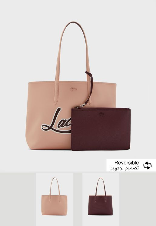 Reversible Anna Fantaisie Shopper with pouch