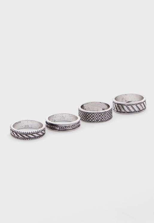 4 Pack Ring Set