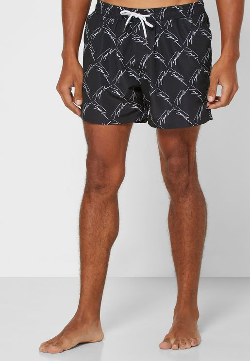 Signature Print Swim Shorts