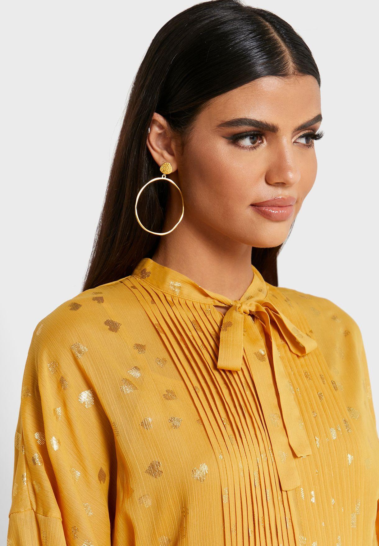 فستان ماكسي بأربطة عنق