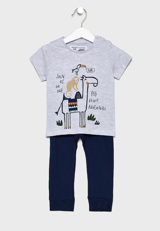 Infant Graphic T-Shirt+Legging Set
