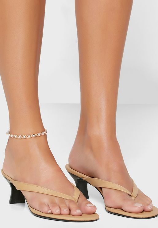 Pearl Twisted Chain Anklet
