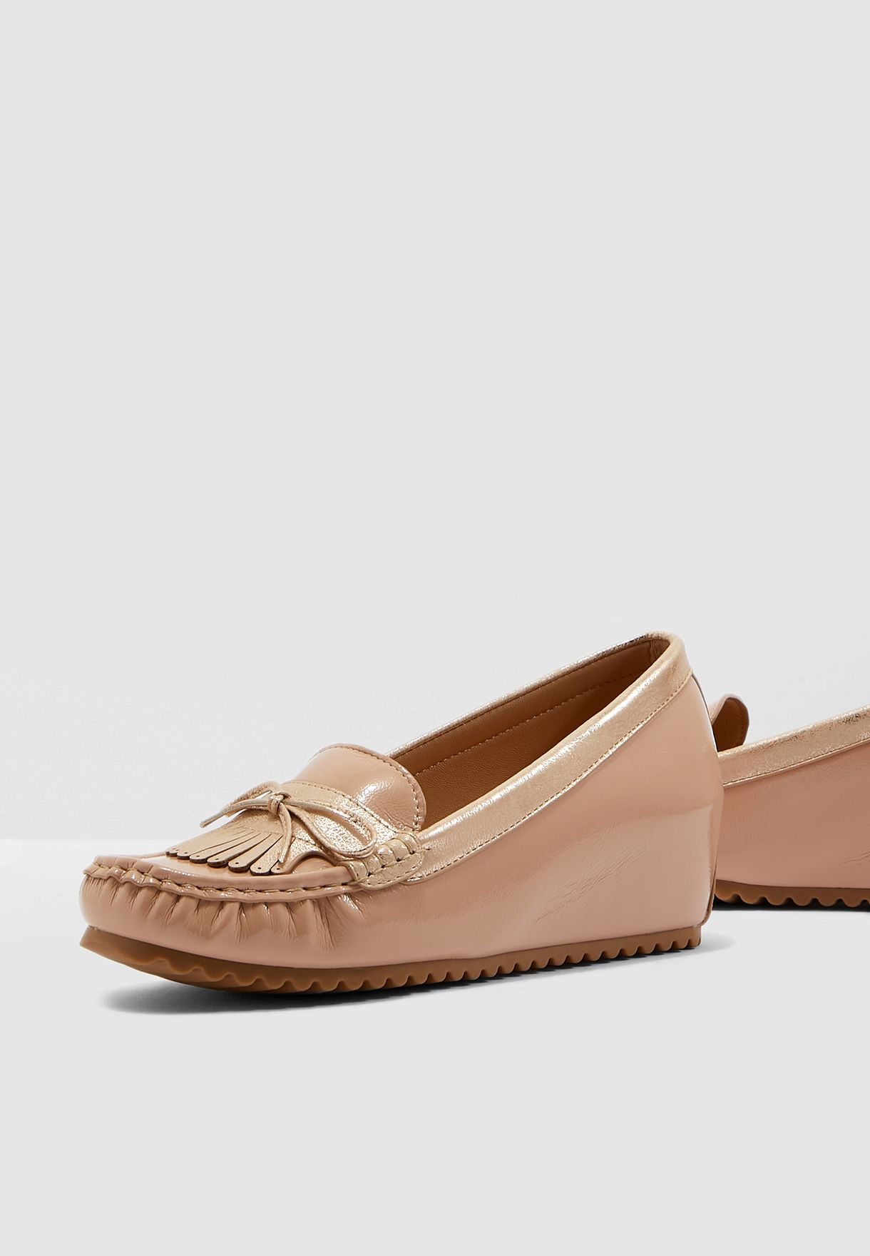 Knotted Moccasin - Nude