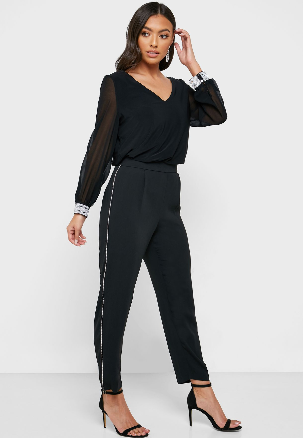 Ankle Grazer Piping Pants
