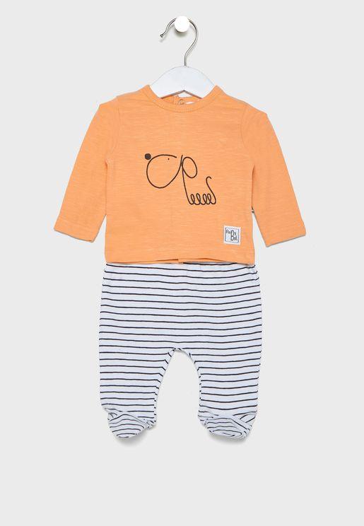 Infant Graphic T-Shirt + Pyjama Set