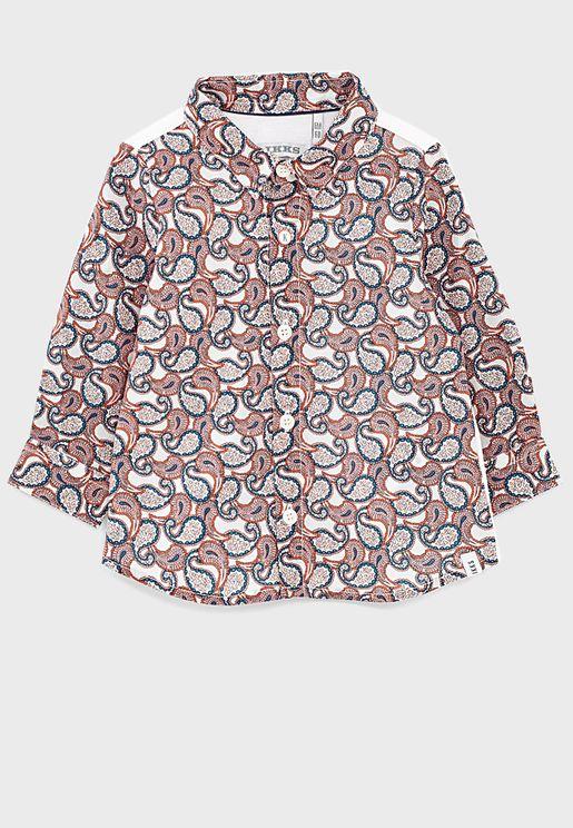 قميص بطبعات بيزلي (بتة)