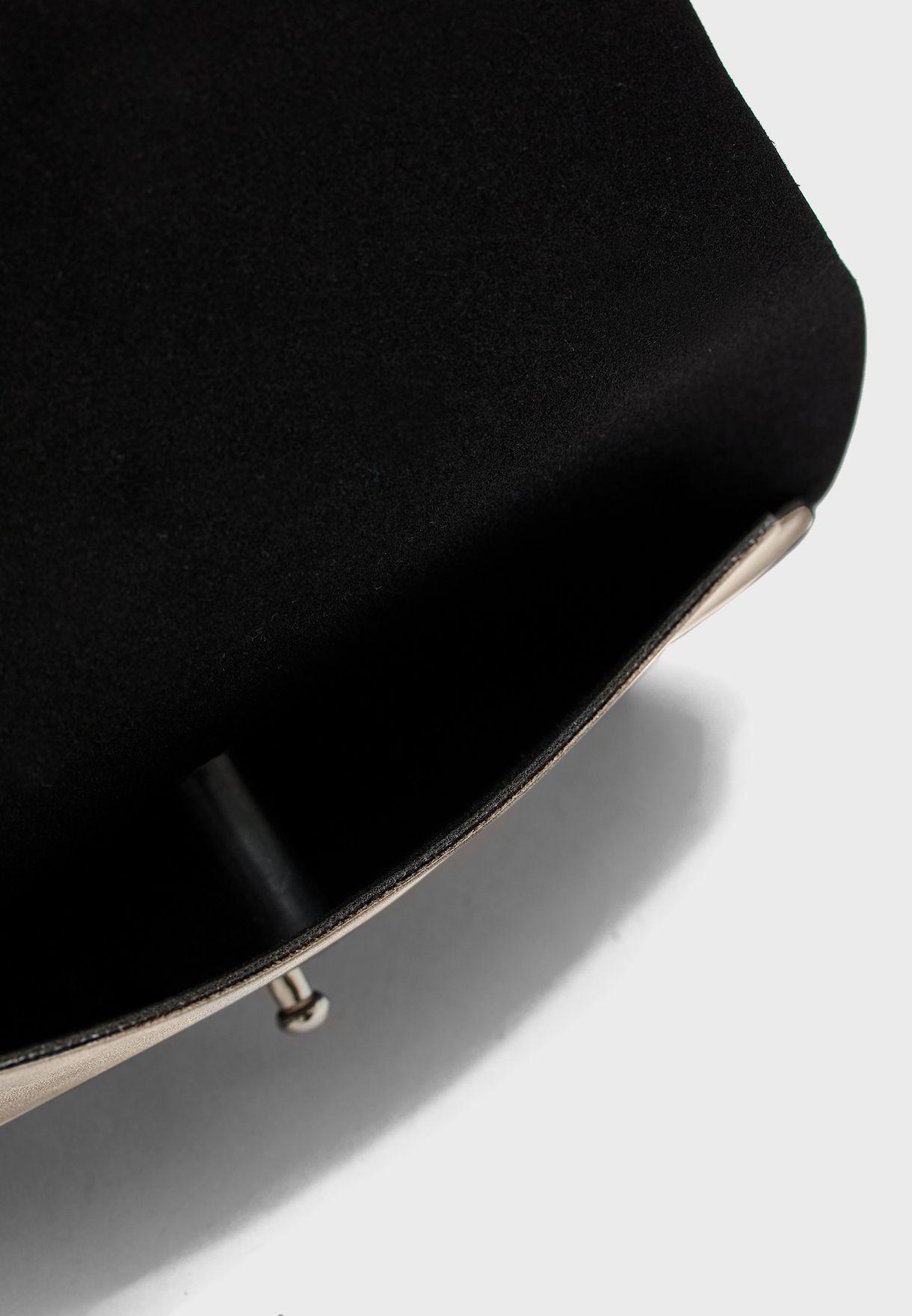 Faux Suede Elastic Strap Sunglasses Case