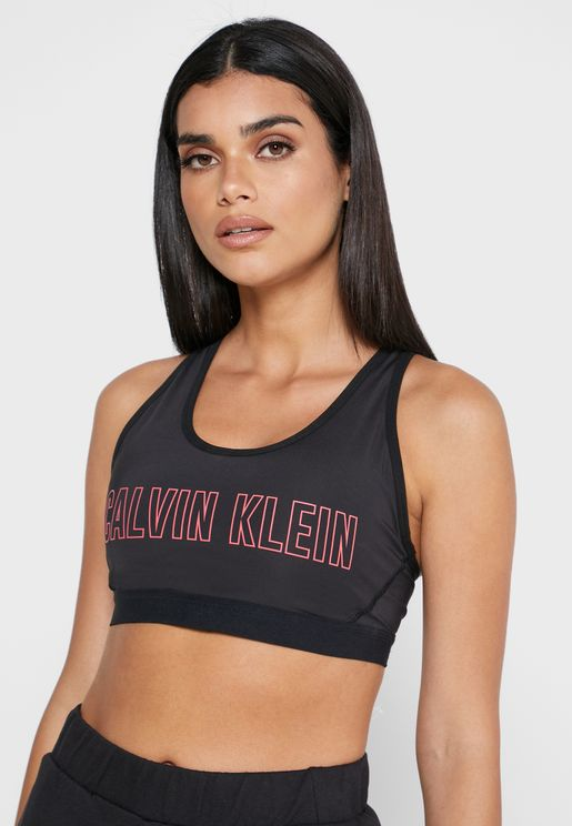 Logo High Compression Sports Bra