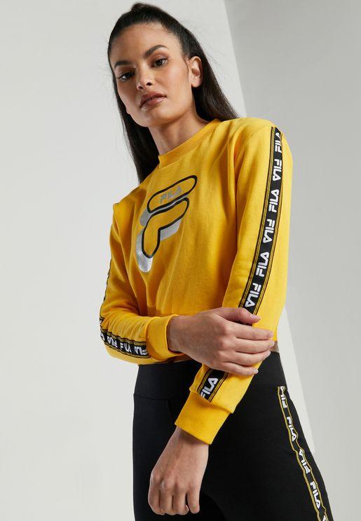 Cinzia Logo Tape Sweatshirt