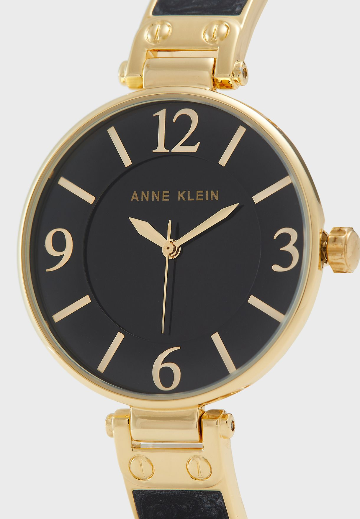 AK2690BKGB Leather Strap Analog Watch