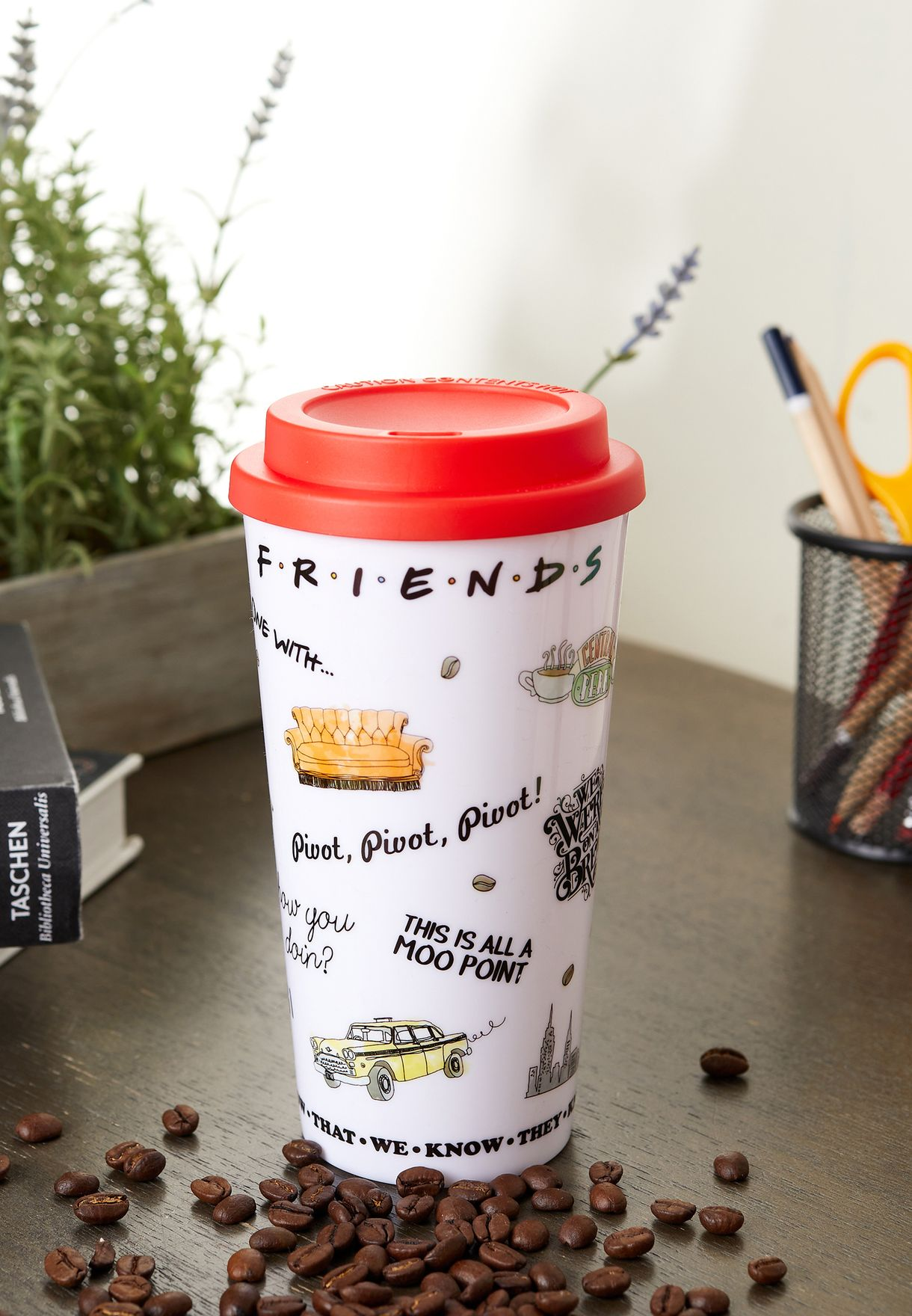 Friends Printed Flask