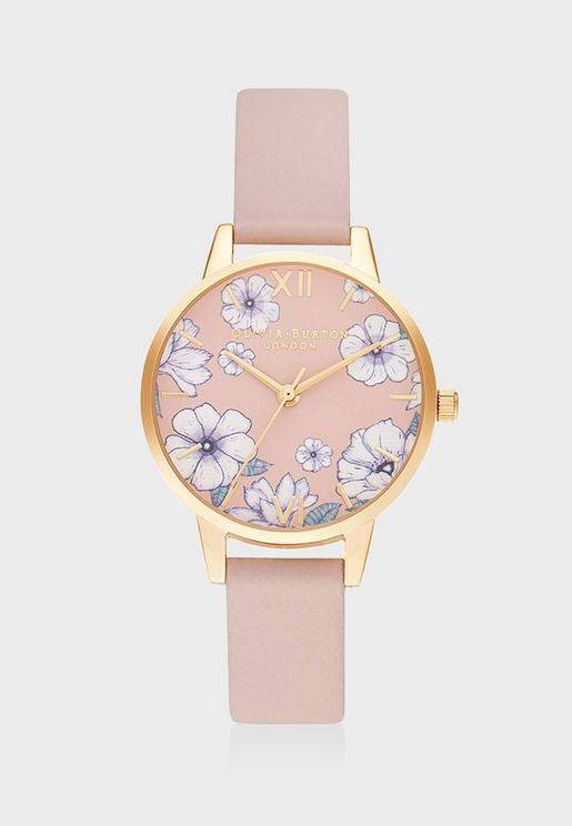 OB16AN04 Groovy Blooms Eco Candy Analog Watch