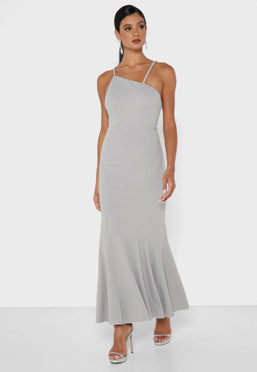 One Shoulder Strappy Dress