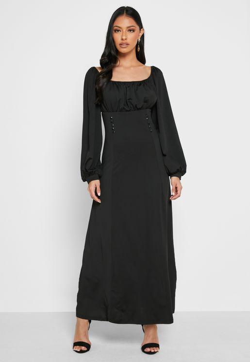 Bishop Sleeve Long Dress