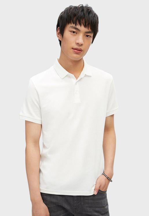 Casual Short Sleeves Polo T-shirt