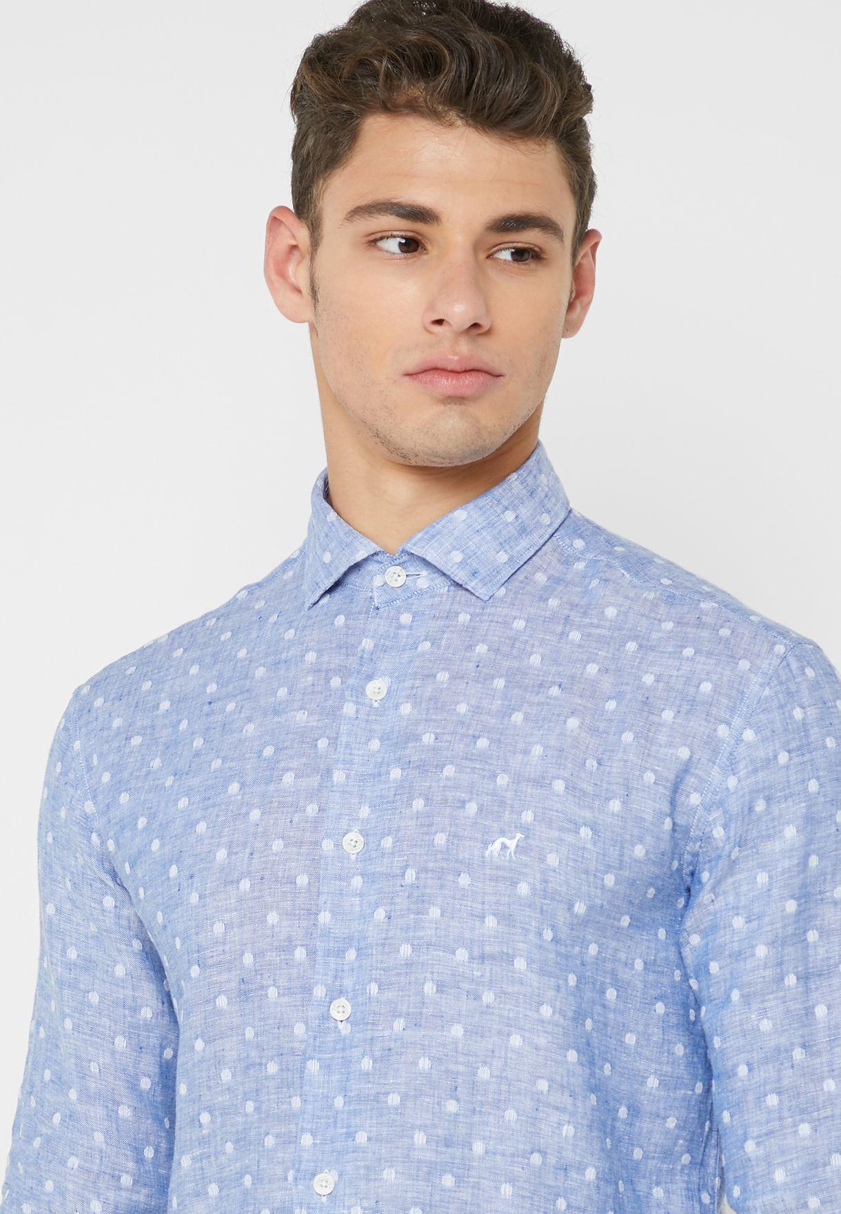 Dot AOP Slim Fit Shirt