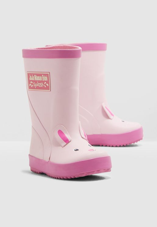 Kids Bunny Wellington Boots