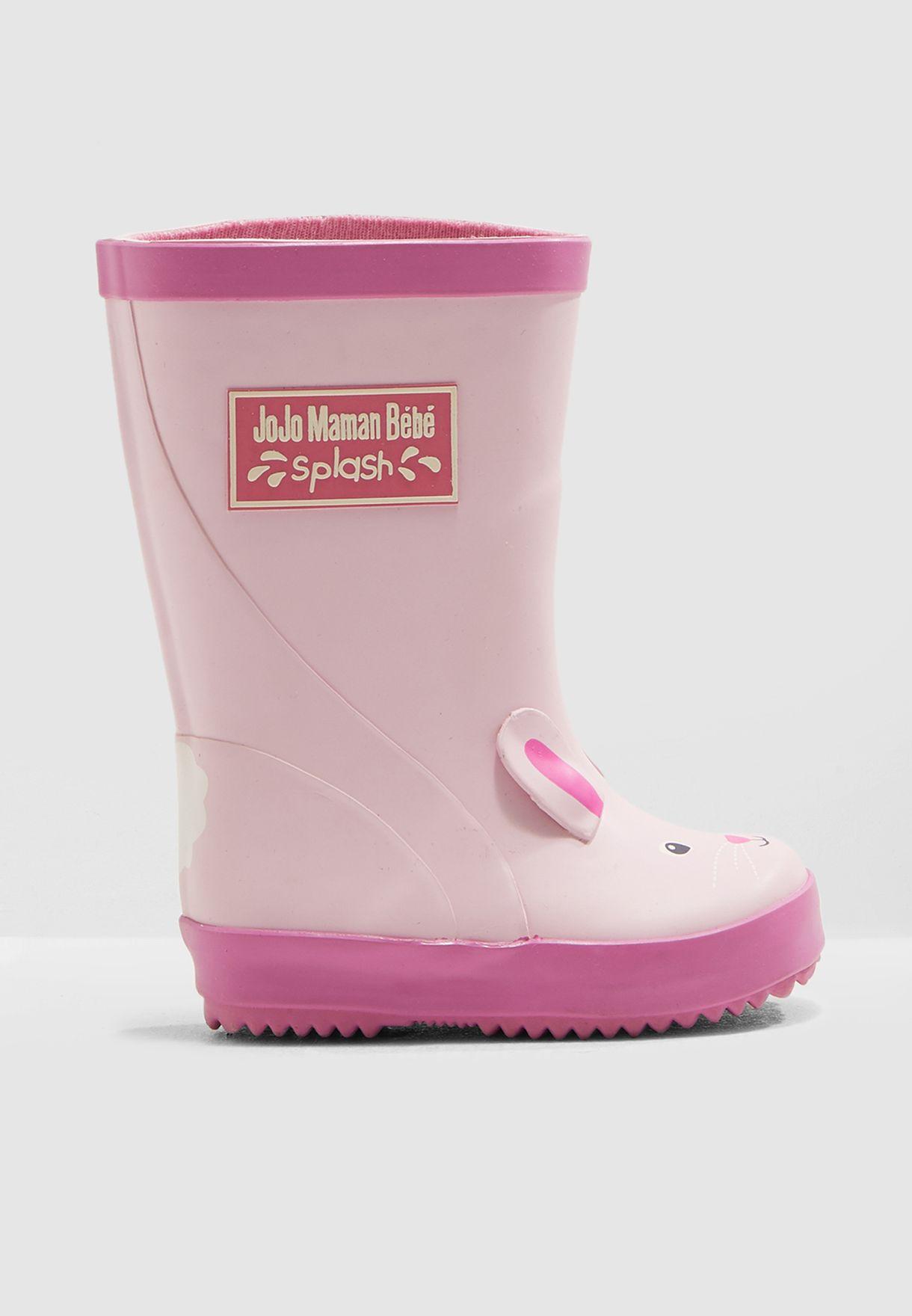Kids Bunny Wellington Boots