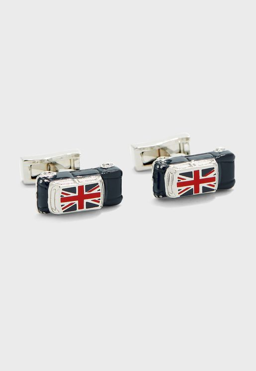 Union Jack Car Cuff Links