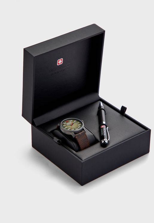Active Duty Watch + Pen Set