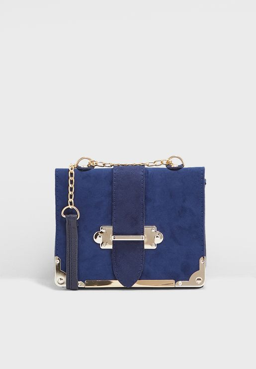 Crossbody Bag With Metal Detail