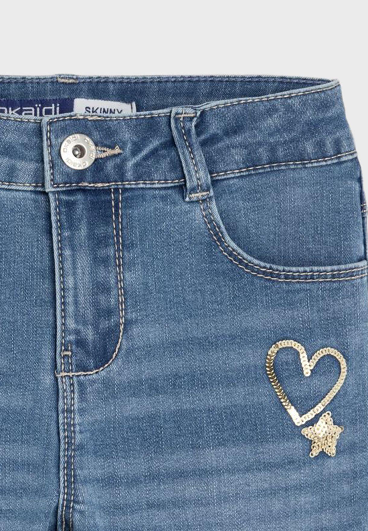 جينز مزين بالترتر