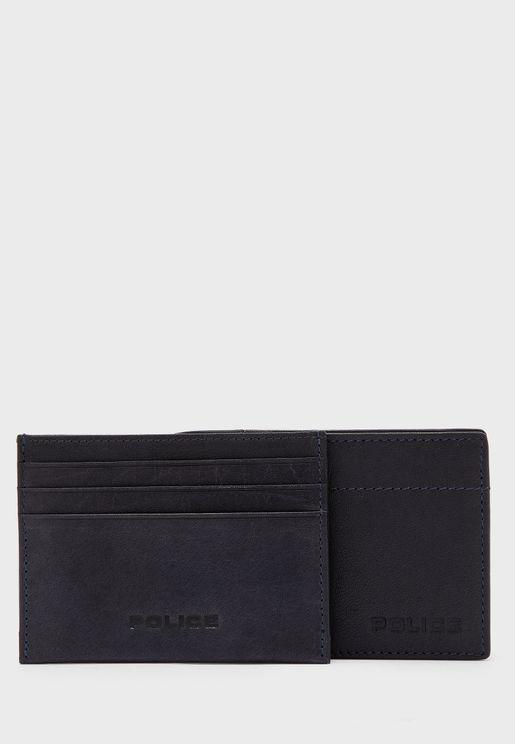 محفظة وحافظة بطاقات جلد اصلي