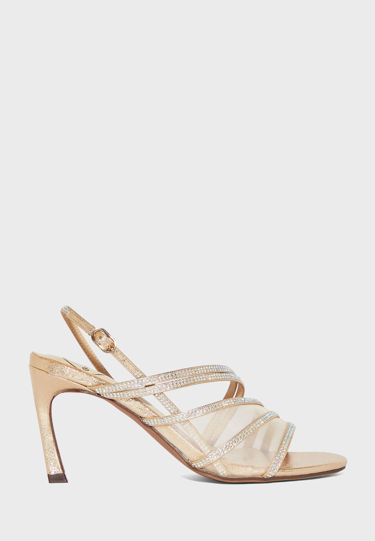 Ankle Strap High-Heel Sandal