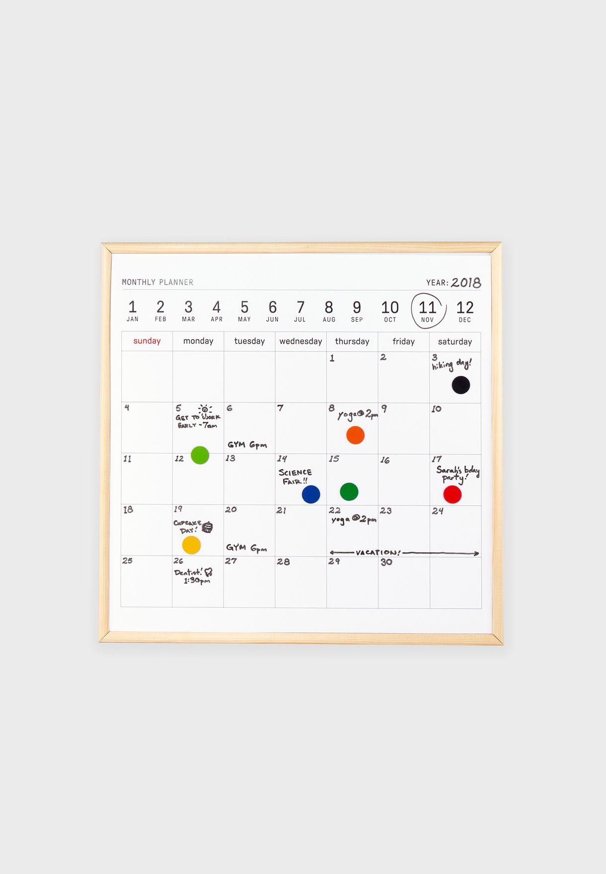 Large White Board Calendar