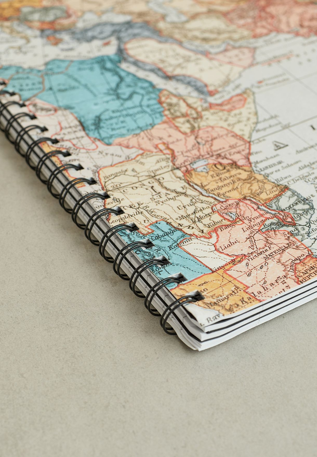 A4 World Map Campus Notebook