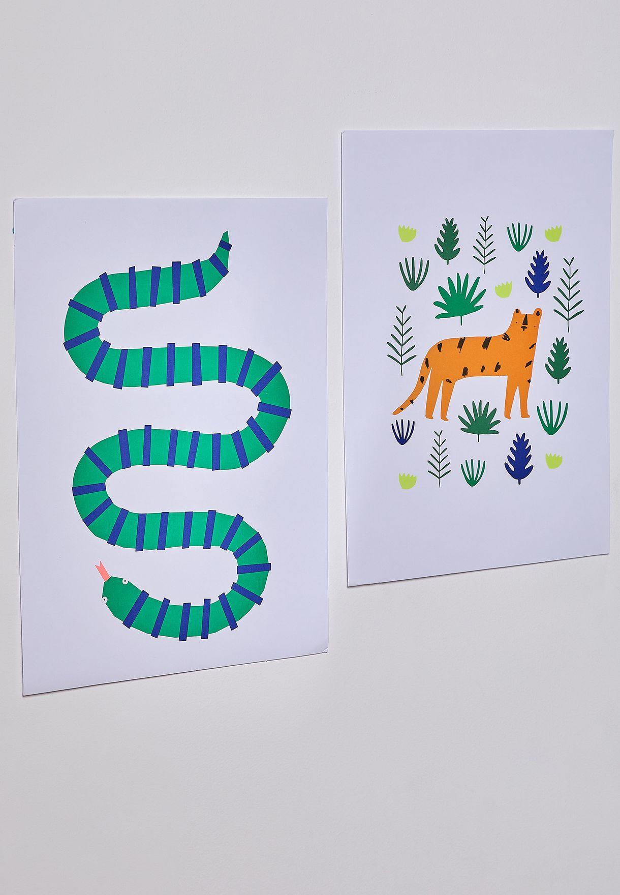 Jungle Set of 2 Art Prints