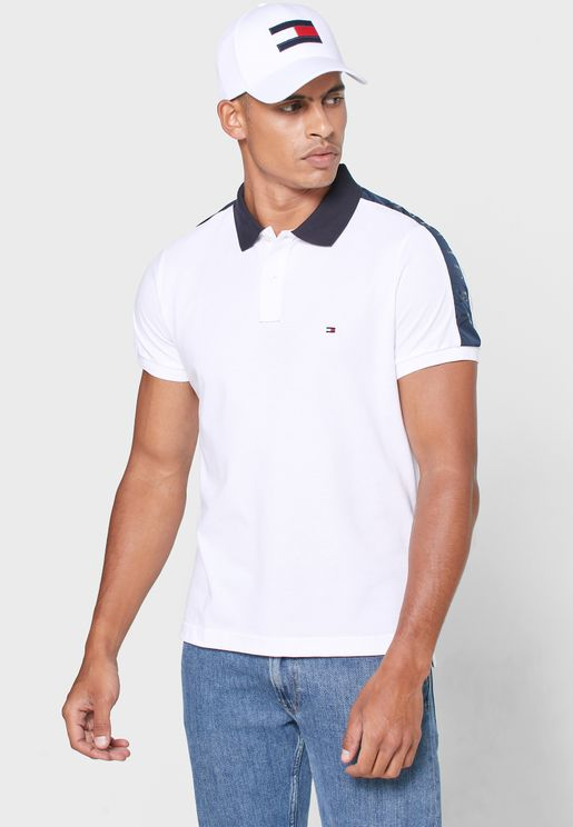 Shoulder Stripe Slim Fit Polo