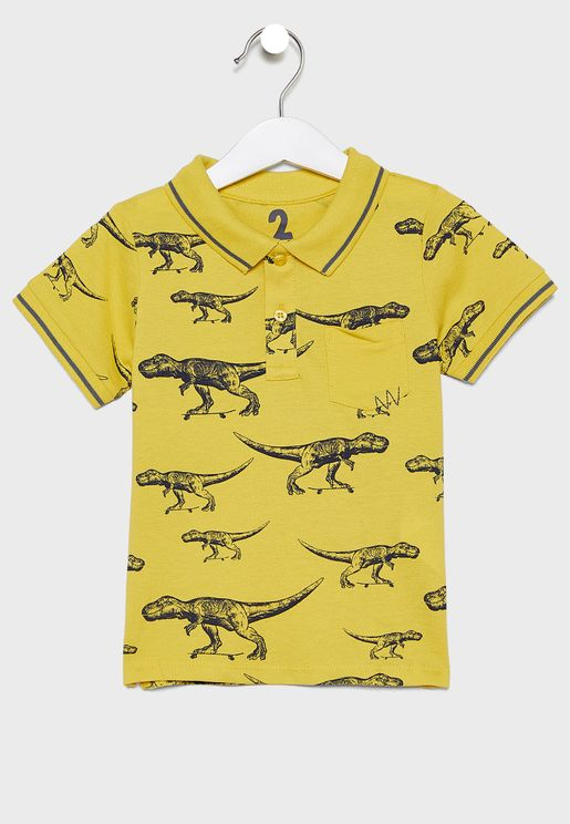 تيشيرت اطفال بطبعات ديناصور