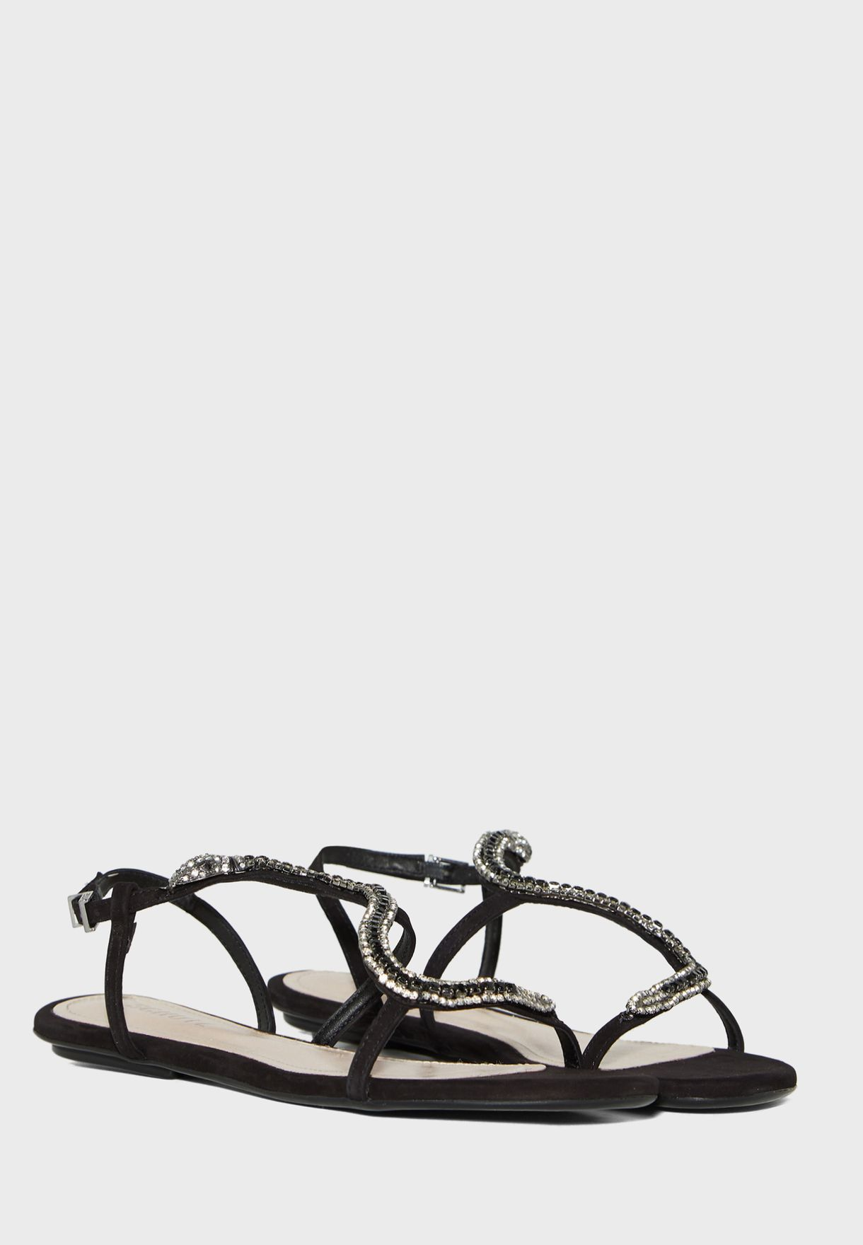 Ankle Strap Buckle Detail Sandal