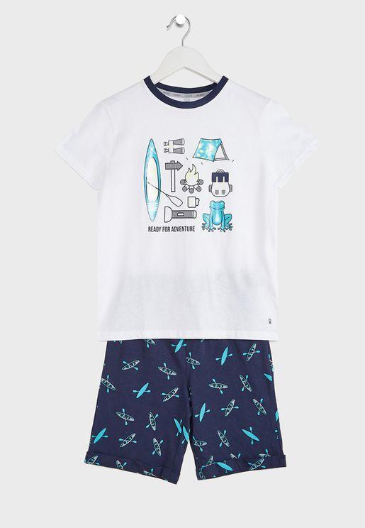 Youth Graphic Pyjama Set